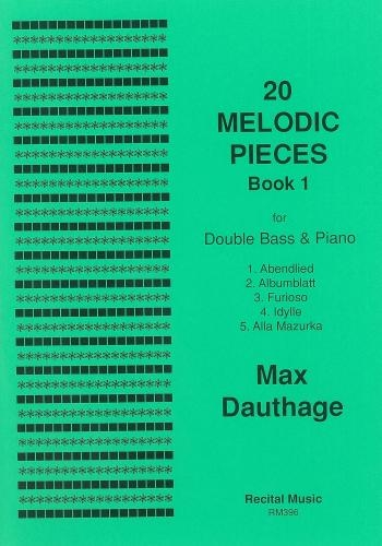 20 Melodic Pieces: Book 1: Double Bass