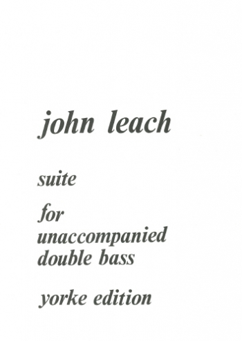 Suite: Unaccompanied Double Bass (Yorke)
