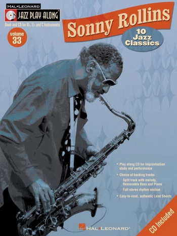 Jazz Play Along Vol.33 Sonny Rollins: Bb or Eb or C Instruments: Book & CD