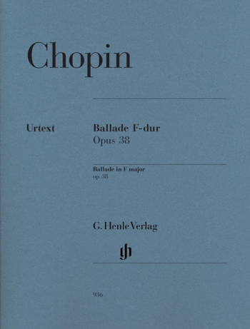 Ballade F Major Op.38: Piano (Henle)