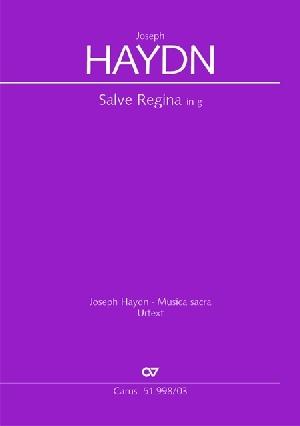 Salve Regina: G Major: Vocal Score