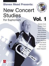 New Concert Studies 1: Euphonium: Bass Clef: Book & Cd