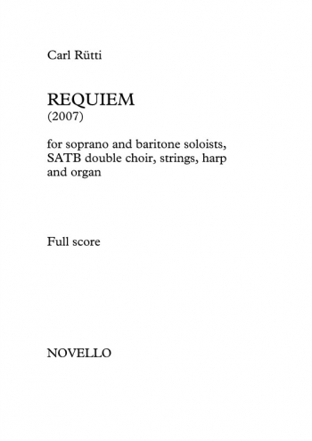 Requiem: Vocal Score: Satb