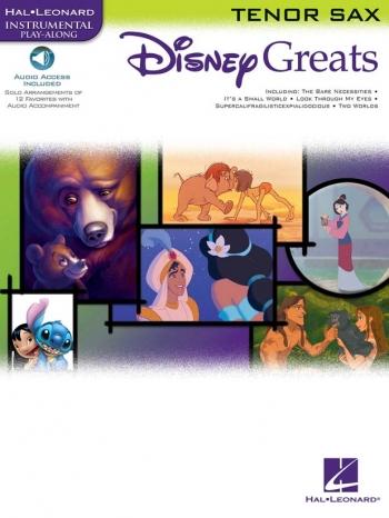 Disney Greats: Tenor Saxophone: Book & Cd