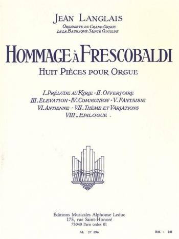 Hommage To Frescobaldi: Organ