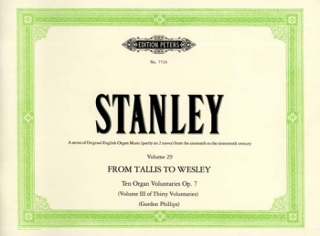 Voluntaries Op.7: Tallis To Wesley : Organ  (Peters)