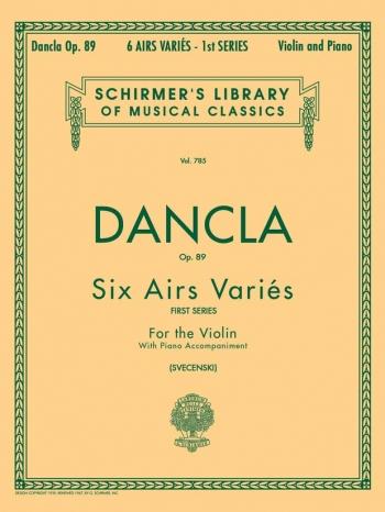 Six Aires Varies: Op89: First Series: Violin