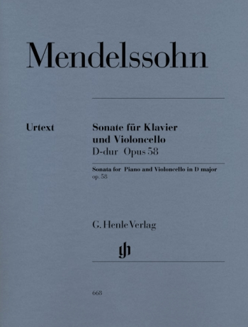 Sonata: D Major: Op58: Cello & Piano (Henle)