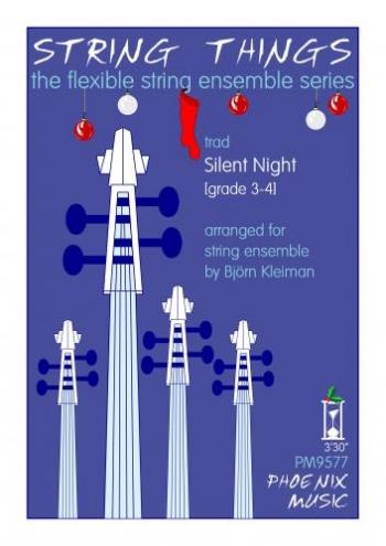 String Things - Silent Night - String Ensemble - Sc&Pts - Grade 3-4