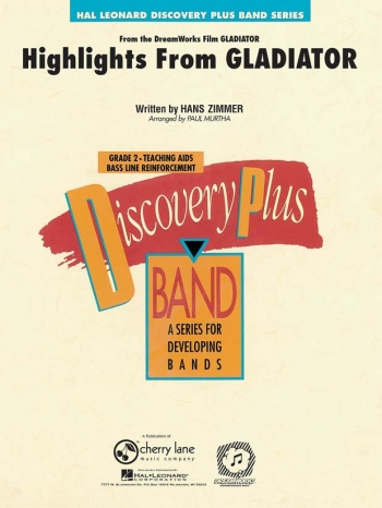 Discovery Plus: Highlights From Gladiator: Band Score & Parts (Zimmer Arr Murtha)