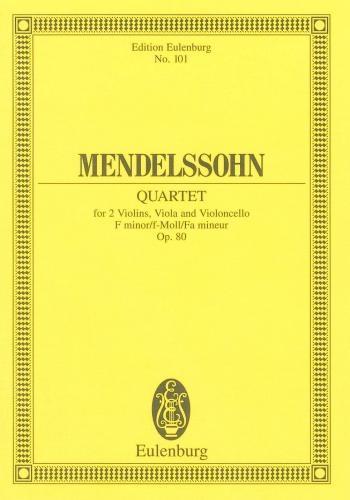String Quartet No.6: F Minor: Miniature Score
