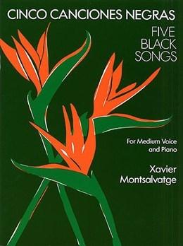Cinco Canciones Negras:  5 Black Songs:  Medium Voice And Piano