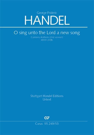 O Sing Unto The Lord A New Song: Hwv249B:  Vocal Upper