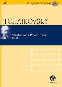 Variations On A Rococo Theme : Miniature Score(Audio Series No 53)