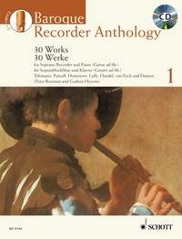 Baroque Recorder Anthology: Vol.1: 30 Works: Recorder: Book And CD