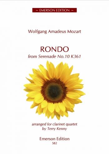 Rondo From Serenade No. 10 K361 - Clarinet Quartet