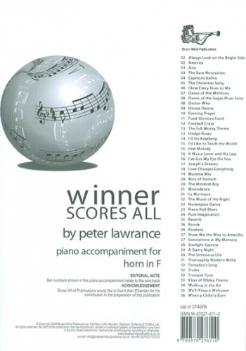 Winner Scores All: French Horn Piano Accompaniment