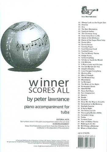 Winner Scores All: Tuba Piano Accompaniment