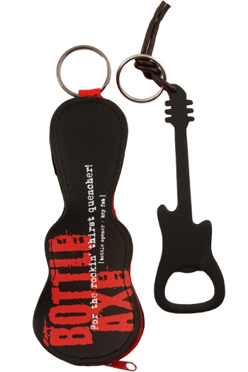 Guitar Bottle Opener With Gig Bag - Black