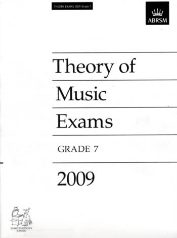 ABRSM Theory Of Music Exams 2009: Grade 7: Past Theory Papers