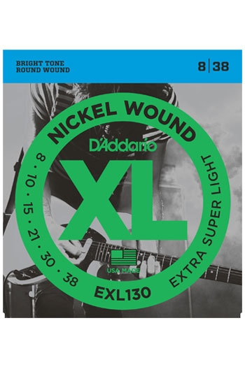 D'Addario Electric Guitar Exl130 Nickel Woound Extra Super Light 8-38