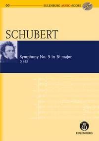 Symphony No 5: Bb Major: D485 (Audio Series No 60): Miniature Score