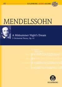 Midsummer Nights Dream: Op61 (Audio Series No 61): Miniature Score