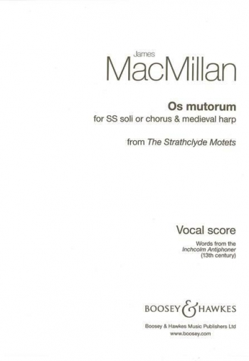 Os Mutorum: Vocal:  SS  From Strathcyde Motets