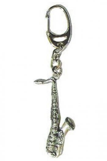 Gift: Keyring: Saxophone: Pewter
