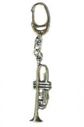 Gift: Keyring: Trumpet: Pewter