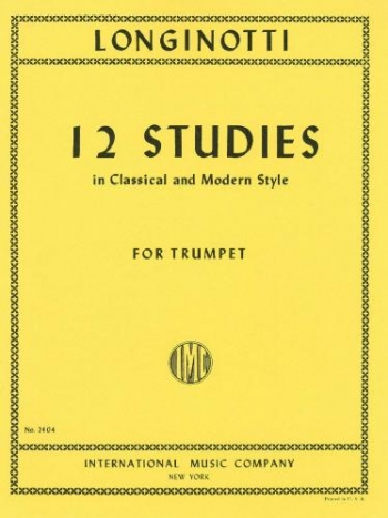 12 Studies In Classical And Modern Style For Trumpet