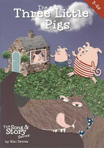 Three Little Pigs: Ages 3-6  Musical: Bk & Cd
