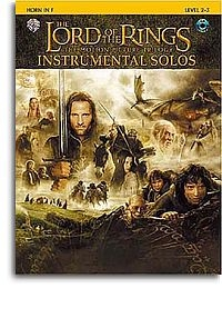 Lord Of The Rings: Trilogy:  Instrumental Solos For French Horn: Book & CD