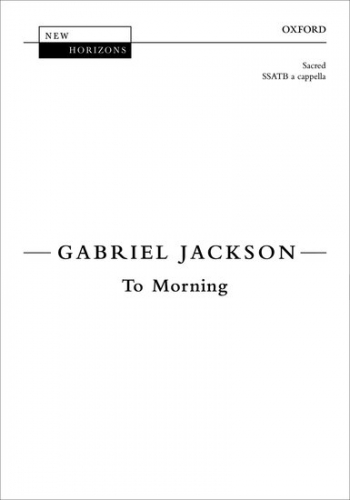 To Morning: SATB: Vocal Score