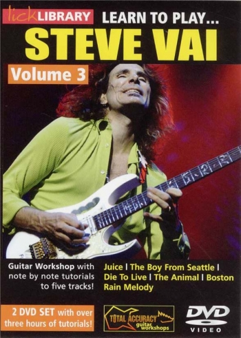Lick Library: Learn To Play Steve Vai:  Book 3: DVD