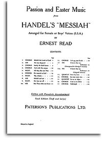 Passion And Easter Music From Messiah: Vocal 3 Part: SSA