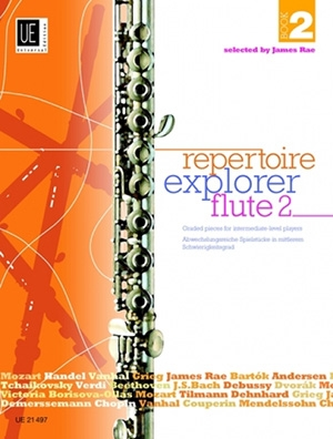Repertoire Explorer: Book 2: Graded Pieces: Intermediate: Flute & Piano (Rae)