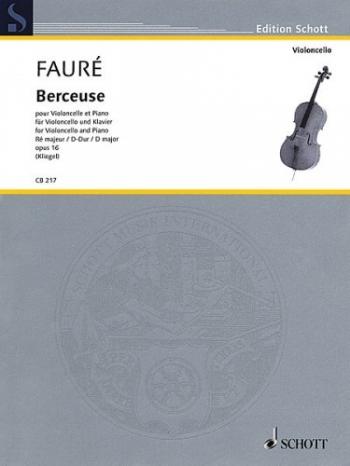 Berceuse Op16: Cello And Piano (Kliegel) (Schott)