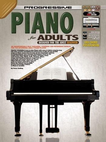 Progressive Piano Method For Adults: Book CD & 2DVD & CDROM