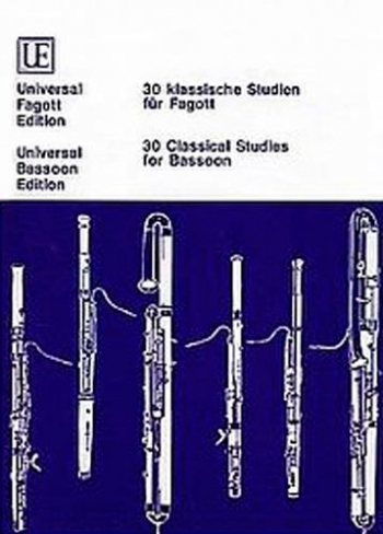 30 Easy Classical Studies: Bassoon  Solo (Universal)