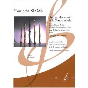 Duo Sur Des Motfis De La Somnambule: 2 Clarinets And Piano