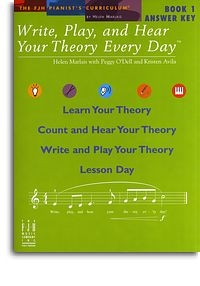 Write, Play And Hear Your Theory Every Day: Bk 1: Answer Key