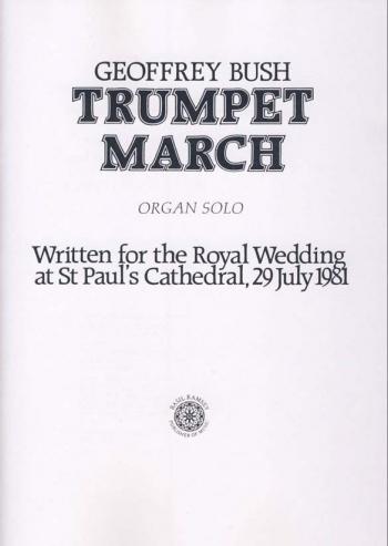 Trumpet March: Organ
