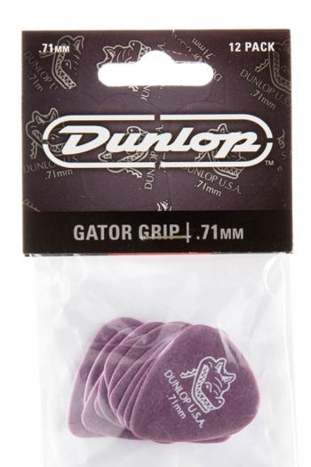 Dunlop Plectrums - Gator Grip .71mm (12 Pack)