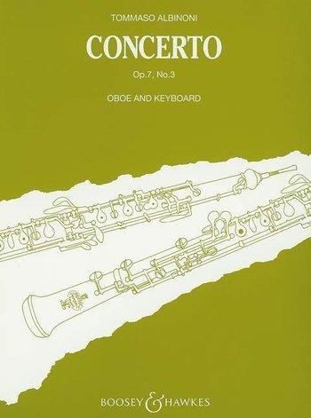 Oboe Concerto Op.7/3 Bb: Oboe & Piano (B&H)