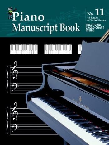 Koala Manuscript Book 11 - 48 Pages Piano Manuscript And Chord Boxes