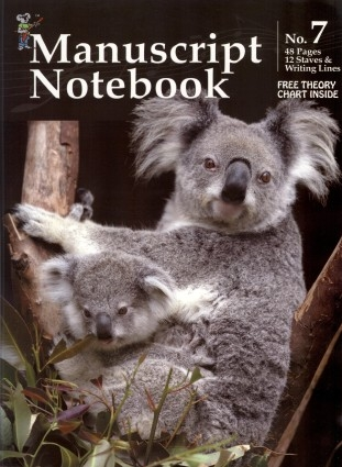 Koala Manuscript Book 7 - 48 Pages 12 Staves