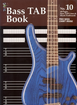 Koala Manuscript Book 10 - 48 Pages Bass TAB And Blank Fretboards