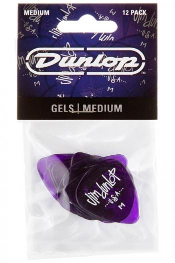 Dunlop Plectrums - Gels Medium (12 Pack)