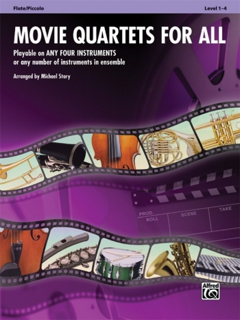 Movie Quartets For All: Flute/Piccolo: Level 1-4: (Arr Story)